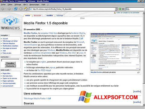 Captură de ecran Mozilla Firefox pentru Windows XP