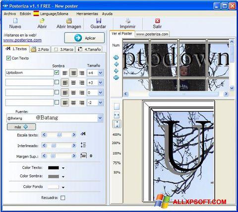 Captură de ecran Posteriza pentru Windows XP