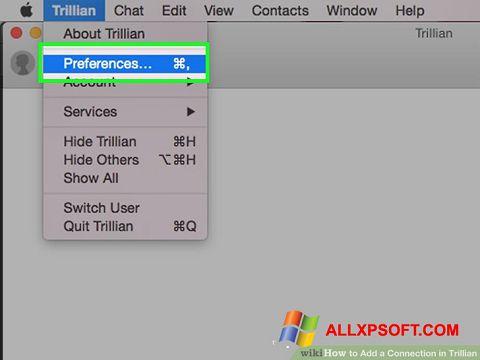 Captură de ecran Trillian pentru Windows XP