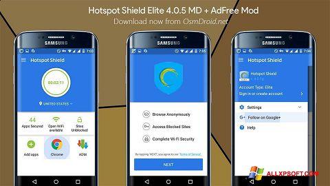 Captură de ecran Hotspot Shield pentru Windows XP