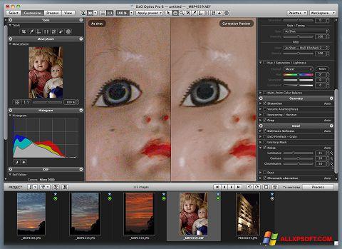 Captură de ecran DxO Optics Pro pentru Windows XP