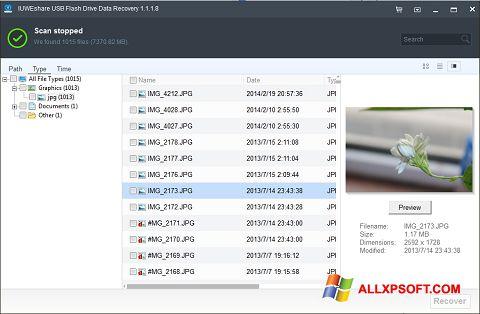 Captură de ecran USB Flash Drive Recovery pentru Windows XP