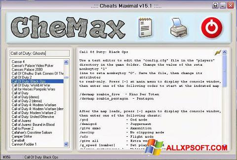 Captură de ecran CheMax pentru Windows XP