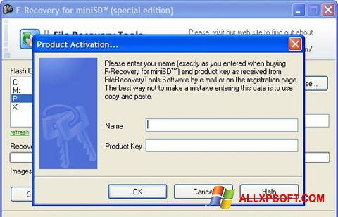 Captură de ecran F-Recovery SD pentru Windows XP