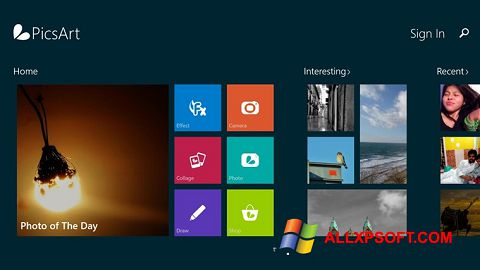 Captură de ecran PicsArt pentru Windows XP