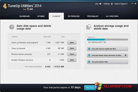 Captură de ecran TuneUp Utilities pentru Windows XP