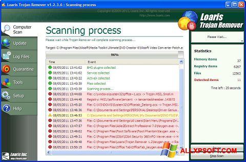 Captură de ecran Trojan Remover pentru Windows XP