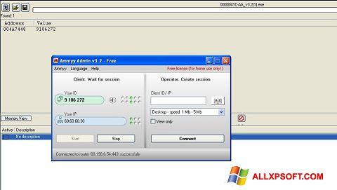 Captură de ecran Ammyy Admin pentru Windows XP