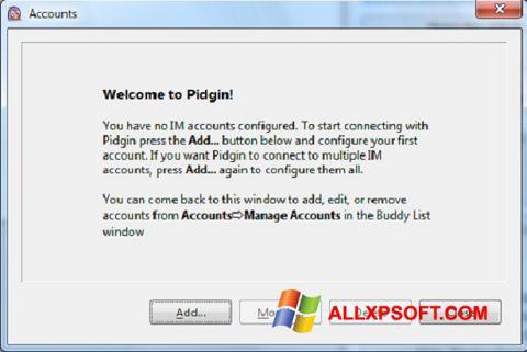 Captură de ecran Pidgin pentru Windows XP