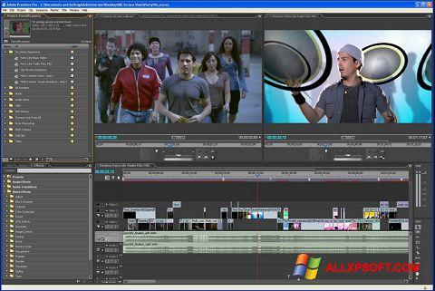 Captură de ecran Adobe Premiere Pro pentru Windows XP