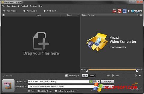 Captură de ecran Movavi Video Converter pentru Windows XP