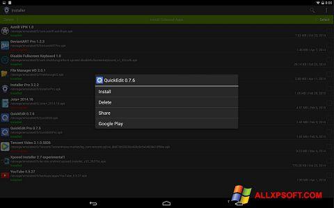 Captură de ecran InstAllAPK pentru Windows XP