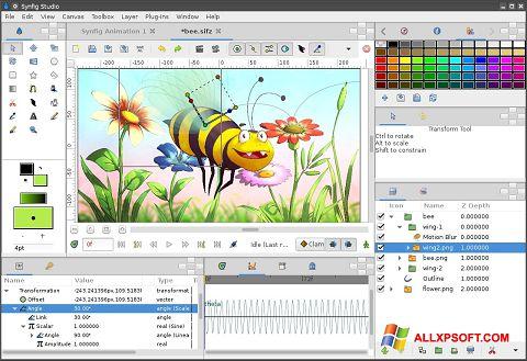 Captură de ecran Synfig Studio pentru Windows XP