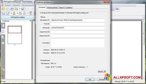 Captură de ecran Foxit Phantom pentru Windows XP