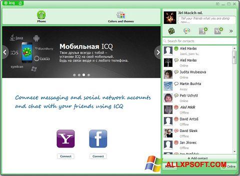 Captură de ecran ICQ pentru Windows XP