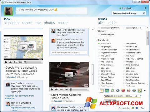 Captură de ecran Windows Live Messenger pentru Windows XP