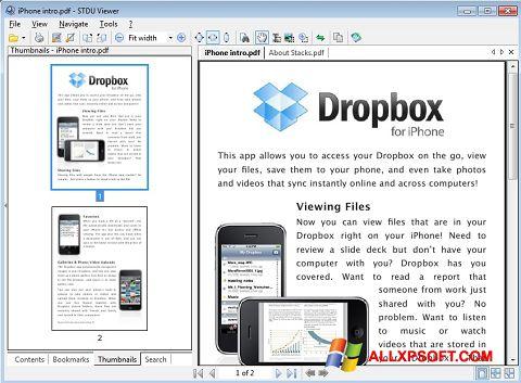 Captură de ecran STDU Viewer pentru Windows XP