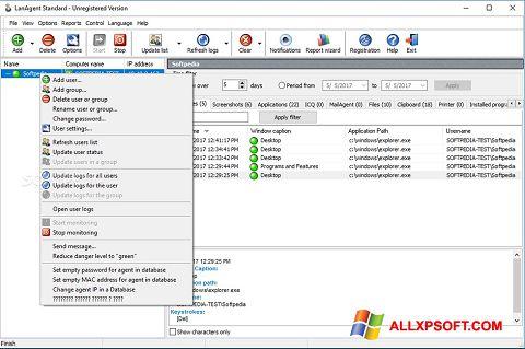 Captură de ecran LanAgent pentru Windows XP