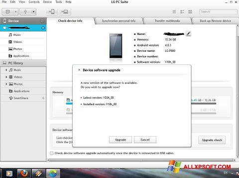 Captură de ecran LG PC Suite pentru Windows XP