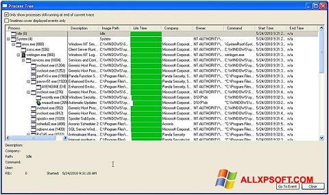 Captură de ecran Process Monitor pentru Windows XP