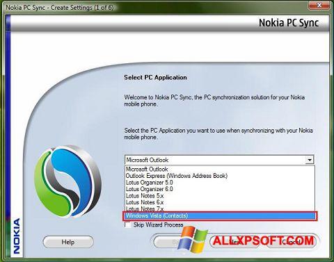 Captură de ecran Nokia PC Suite pentru Windows XP