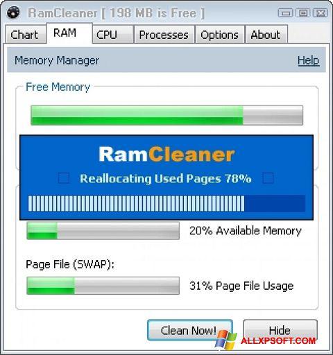 Captură de ecran RamCleaner pentru Windows XP