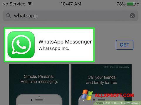 Captură de ecran WhatsApp pentru Windows XP