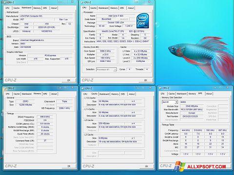 Captură de ecran CPU-Z pentru Windows XP