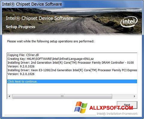 Captură de ecran Intel Chipset Device Software pentru Windows XP