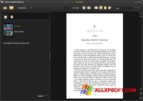 Captură de ecran Adobe Digital Editions pentru Windows XP