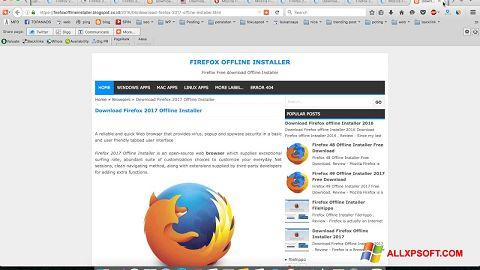 Captură de ecran Mozilla Firefox Offline Installer pentru Windows XP