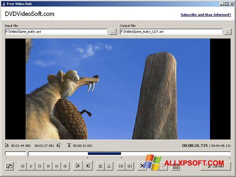 Captură de ecran Free Video Dub pentru Windows XP