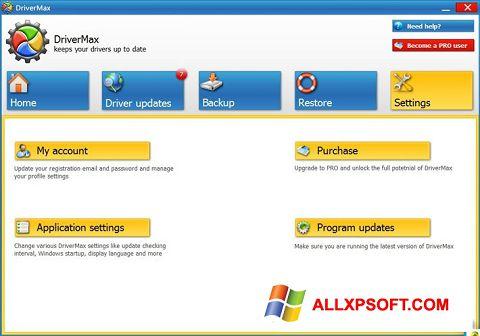 Captură de ecran DriverMax pentru Windows XP