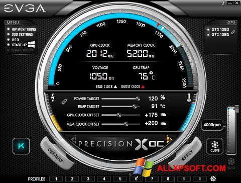 Captură de ecran EVGA Precision pentru Windows XP