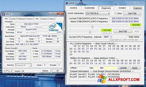 Captură de ecran SetFSB pentru Windows XP