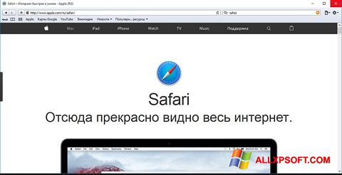 Captură de ecran Safari pentru Windows XP