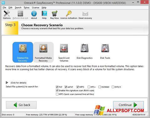 Captură de ecran EasyRecovery Professional pentru Windows XP