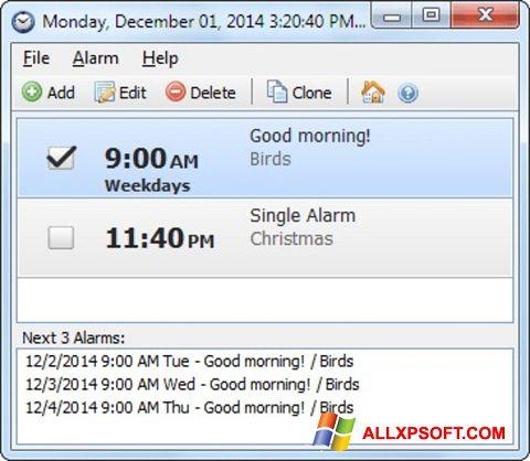 Captură de ecran Free Alarm Clock pentru Windows XP