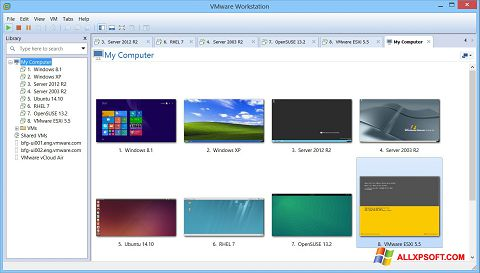 Captură de ecran VMware Workstation pentru Windows XP