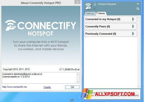 Captură de ecran Connectify Pro pentru Windows XP