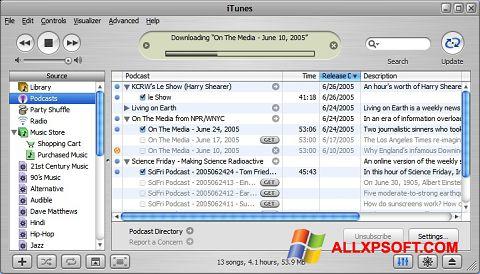 Captură de ecran iTunes pentru Windows XP