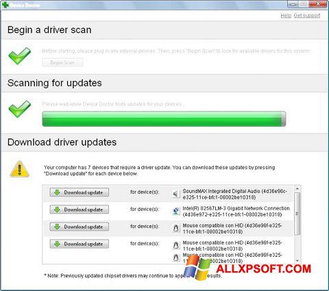 Captură de ecran Device Doctor pentru Windows XP