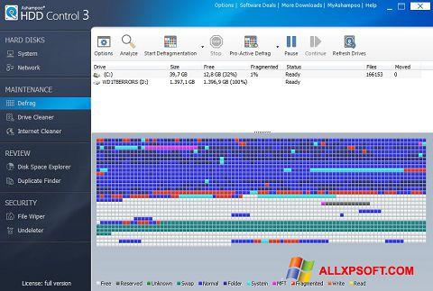 Captură de ecran Ashampoo HDD Control pentru Windows XP