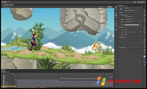 Captură de ecran Adobe Flash Professional pentru Windows XP