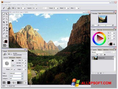 Captură de ecran Artweaver pentru Windows XP