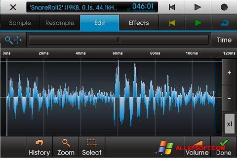 Captură de ecran NanoStudio pentru Windows XP