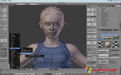 Captură de ecran Blender pentru Windows XP