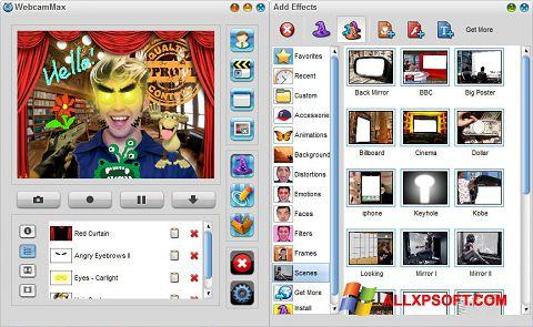 Captură de ecran WebcamMax pentru Windows XP