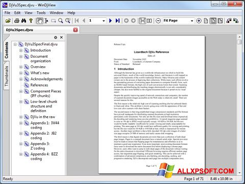Captură de ecran WinDjView pentru Windows XP
