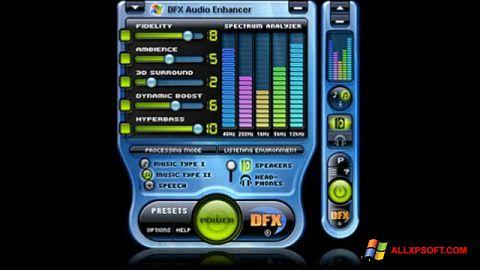 Captură de ecran DFX Audio Enhancer pentru Windows XP